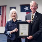 Dr. Jan Walker and President Dan R. Jones