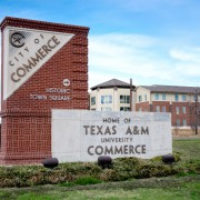 A&M-Commerce and City of Commerce signs